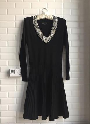 Yuka paris франция платье чёрное