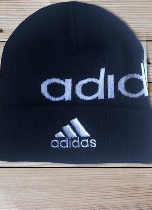 Мужская зимняя вязаная шапка adidas