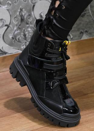 Осеннее ботинки, супер модные крутые боты! натуральная кожа!