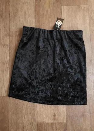 Нарядная бархатная юбка от heidi klum esmara германия