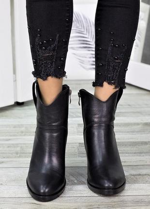 Женские демисезонные и зимние ботинки из натуральной кожи