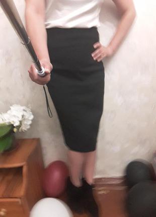 Кашемировая юбка карандаш