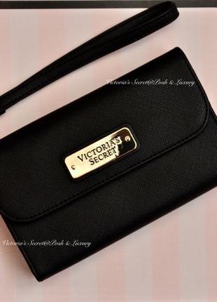 2-в-1: кошелек и чехол для мобильного телефона, ристлет викториас сикрет. solid black