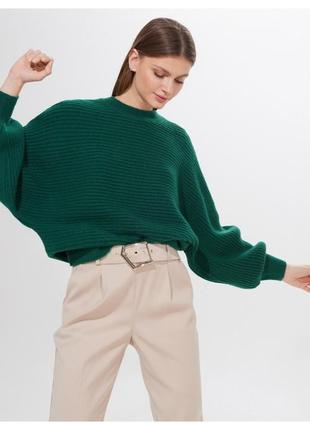Распродажа! только до 18.10! плотный новый изумрудный свитер mohito