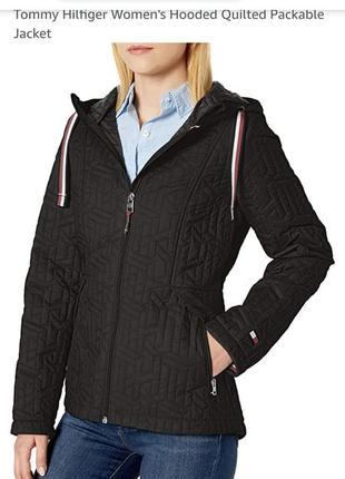 Модная стеганая куртка tommy hillfiger томми фильфигер