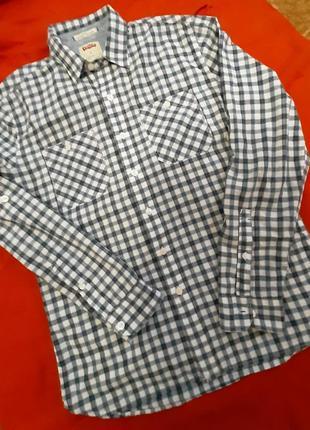 Стильная мужская рубашка сорочка с длинным рукавом levi's