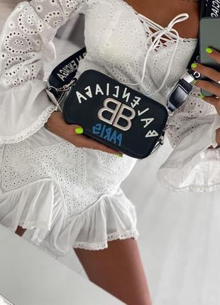Сумка женская черная (балансиага, клатч, сумочка, кошелек)