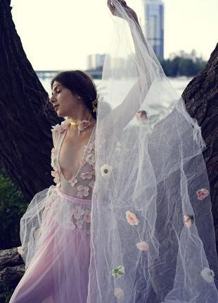 Будуарное платье для фотосессии беременных