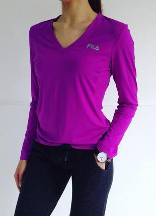 Крутая трендовая фиолетовая спортивная кофта fila оригинал