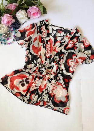 Шифоновая блуза-накидка