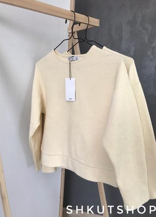 Молочная кофта кофточка свитер mango s