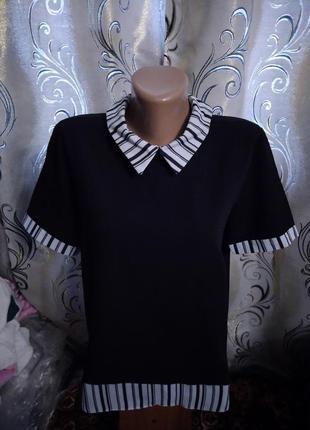 Стильная блуза с воротничком select
