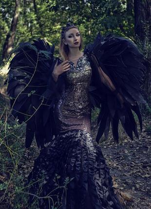 Платье русалочки черного англела для фотосессии