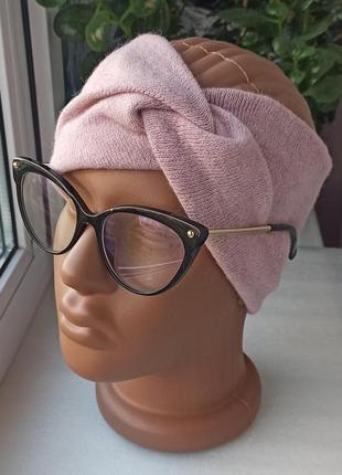 Новая мягкая повязка на голову, чалма, розовая пудра