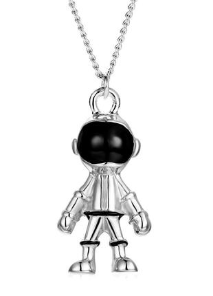 Хип-поп астронавт кулон ожерелье серебристого цвета