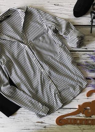Фирменная блуза zara с комбинированным принтом-полоской    bl1938    zara