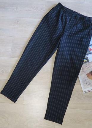 Штаны чёрные в полоску