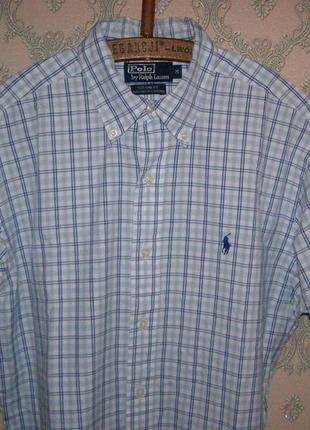 Мужская рубашка от polo ralph lauren с коротким рукавом