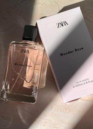 Духи zara wonder rose 200мл/парфуми/парфюм/туалетная вода /туалетная вода2 фото