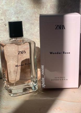 Духи zara wonder rose 200мл/парфуми/парфюм/туалетная вода /туалетная вода