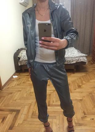 Атласный костюм plilipp plein,a.m.n.,sogo,amnezia,spredway,raw