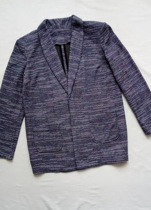 Трикотажный удлиненный пиджак кардиган оверсайз бойфренд. н&м