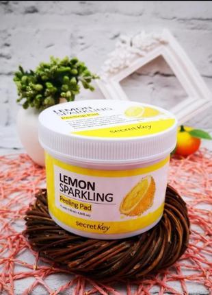 Пилинг-диски с лимоном secret key lemon sparkling peeling pad - 70 шт. (130 мл)