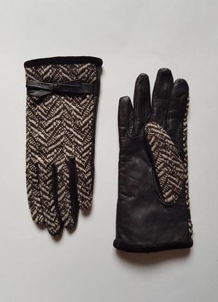 Стильные женские кожаные перчатки,шерстяные перчатки,демисезонные перчатки
