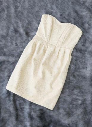 Платье бюстье из жаккарда h&m