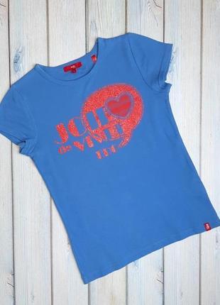 💥1+1=3 женская голубая трикотажная футболка edc, размер 44 - 46