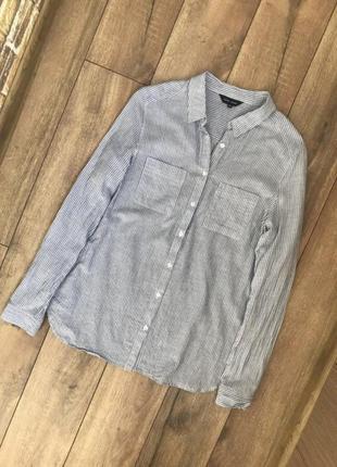 Легкая хлопковая рубашка в полоску new look