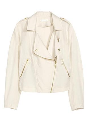Светлая легкая косуха из смесового льна, льняная куртка h&m