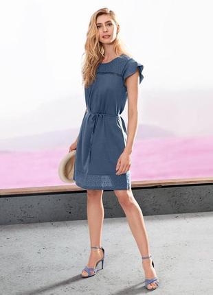 Очаровательно. воздушное.легкое платье из био-хлопка tchibo