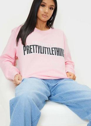 Милий рожевий світшот prettylittlething