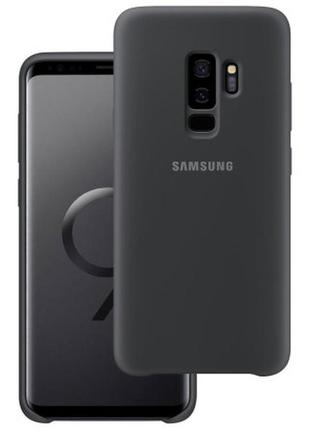 Оригинальный (tpu) чехол бампер silicone cover  samsung g965 galaxy s9 plus (black)