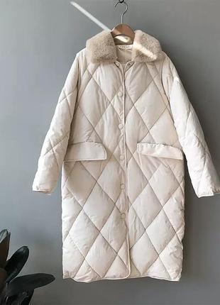 Стеганное пальто/пуховик/парка