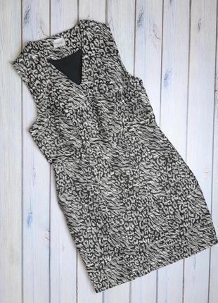 💥1+1=3 нарядное приталенное платье футляр в принт erinly, размер 44 - 46