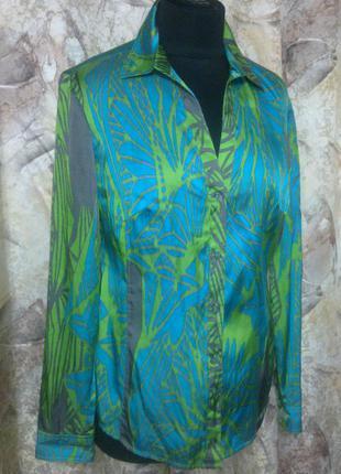 Рубашка marc aurel германия, 55%шелк и коттон, xlраз
