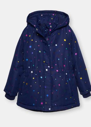 Куртка для девочки  fox&banny 116 темно-синяя