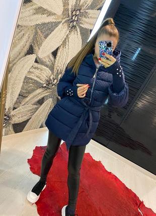 Зимняя куртка с манжетами