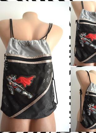 Детский рюкзак-мешок с принтом супергерой размер one size