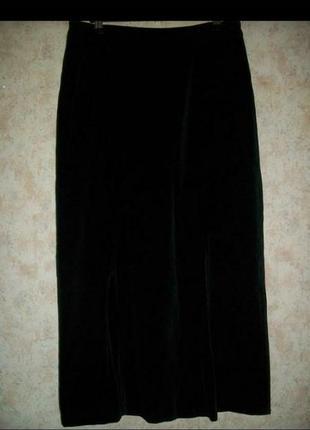 Юбка из бархата винтаж черная
