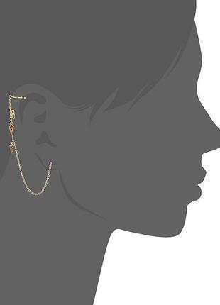 Длинные серьги-цепочки асимметрия pilgrim дания элитная ювелирная бижутерия