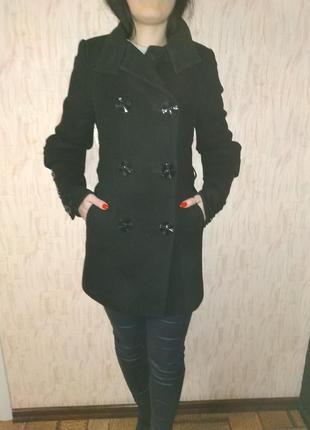 Пальто осеннее демисезонное классическое чёрное s