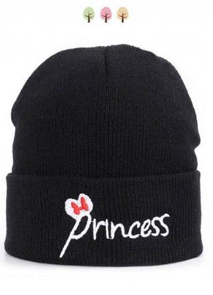 Шапка чорна princess