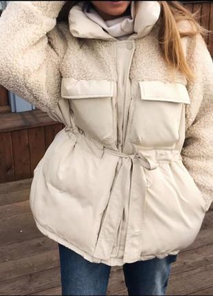 Куртка с шерстью {разные цвета}