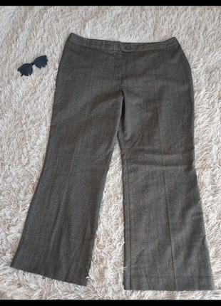 Женские брючные штаны коричневые классические