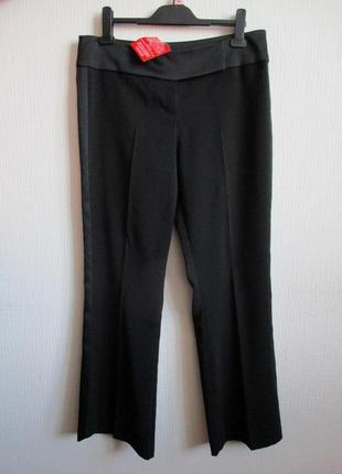 Черные брюки с лампасами, атласными вставками south
