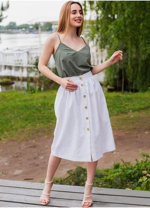 Льняная юбка длины миди