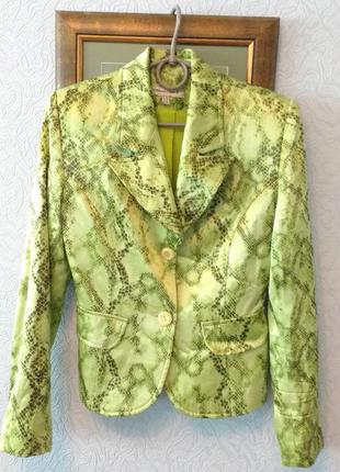 Пиджак светлый лайм, питон